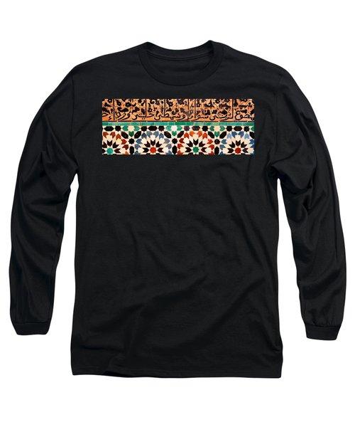 Close-up Of Design On A Wall, Ben Long Sleeve T-Shirt