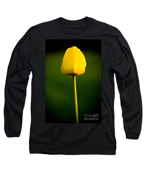 Closed Yellow Flower Long Sleeve T-Shirt