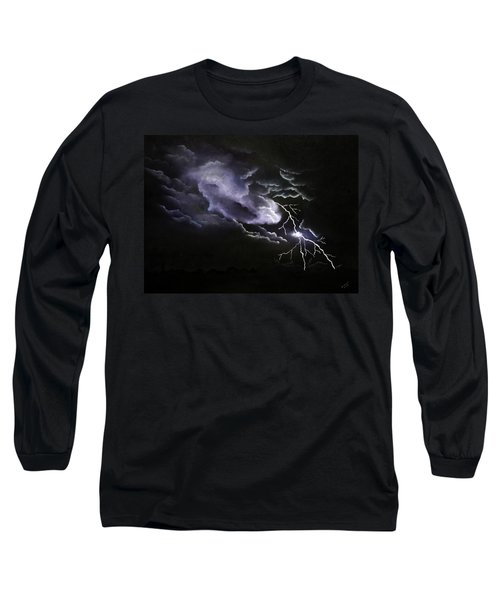 Cloud To Ground Long Sleeve T-Shirt by Cynthia Lassiter