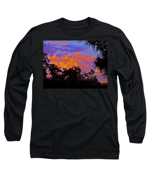 Long Sleeve T-Shirt featuring the photograph Clouds by Pamela Cooper