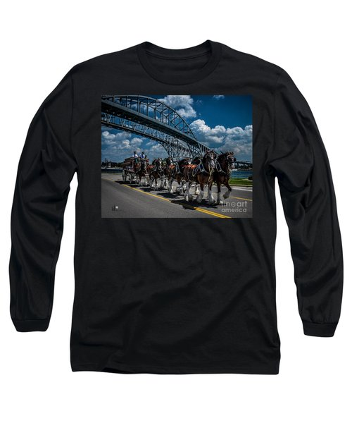 Clydesdales And Blue Water Bridges Long Sleeve T-Shirt