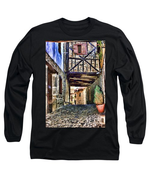 Cobble Streets Of Potes Spain By Diana Sainz Long Sleeve T-Shirt
