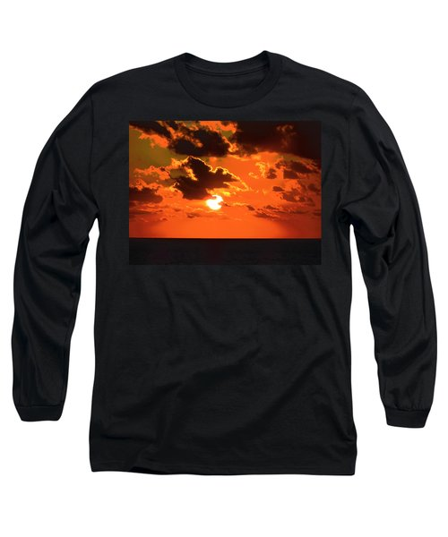 Long Sleeve T-Shirt featuring the photograph Coco Cay Sunset by Jennifer Wheatley Wolf