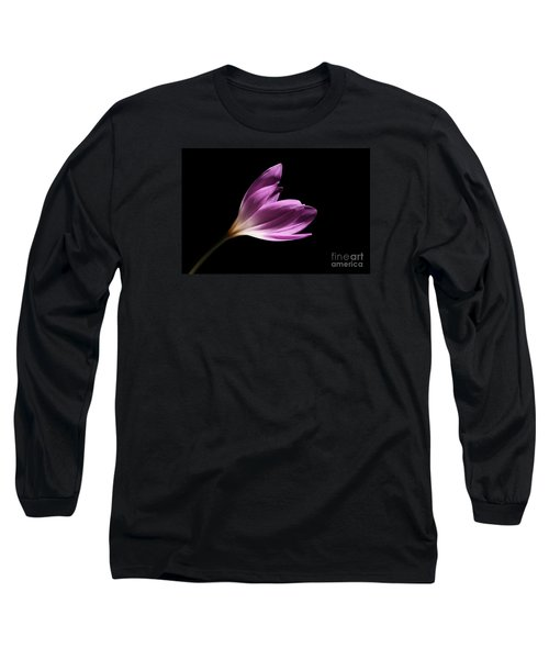 Long Sleeve T-Shirt featuring the photograph Colchicum  by Judy Whitton