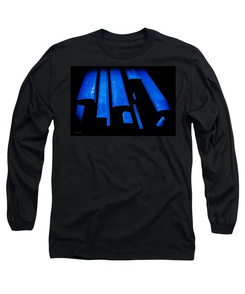 Cold Blue Steel Long Sleeve T-Shirt by Steven Milner
