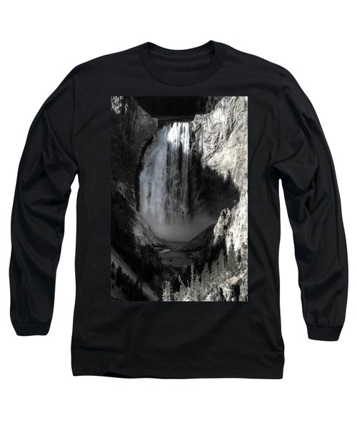Long Sleeve T-Shirt featuring the photograph Cold Cascade  by David Andersen