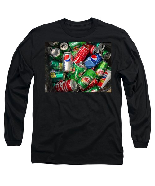 Collection Of Cans 02 Long Sleeve T-Shirt by Andy Lawless
