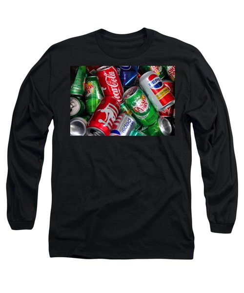 Collection Of Cans 04 Long Sleeve T-Shirt by Andy Lawless