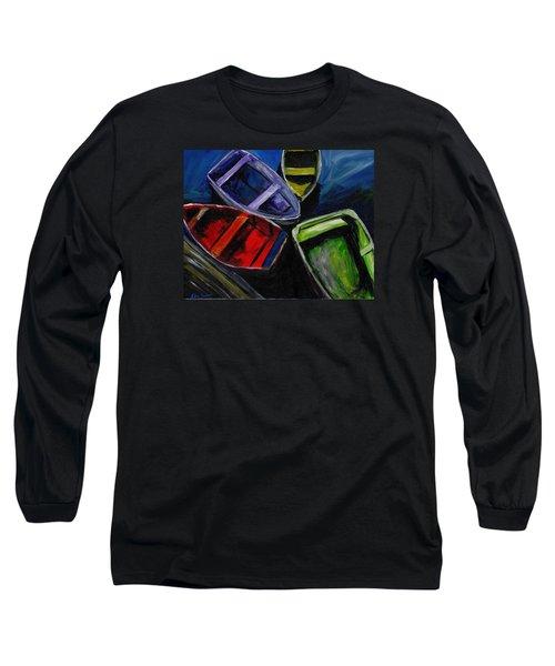 Colliding Skiffs Long Sleeve T-Shirt