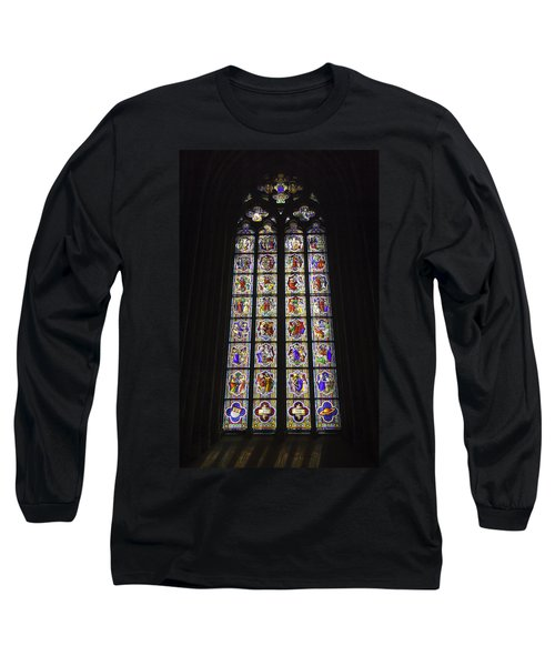 Cologne Cathedral Stained Glass Life Of Christ Long Sleeve T-Shirt