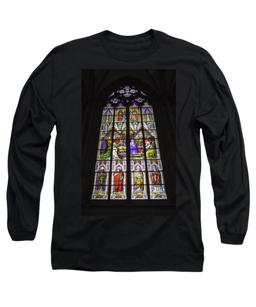 Cologne Cathedral Stained Glass Window Of Pentecost Long Sleeve T-Shirt