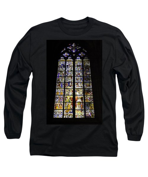 Cologne Cathedral Stained Glass Window Of St Peter And Tree Of Jesse Long Sleeve T-Shirt