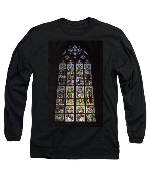 Cologne Cathedral Stained Glass Window Of The Nativity Long Sleeve T-Shirt
