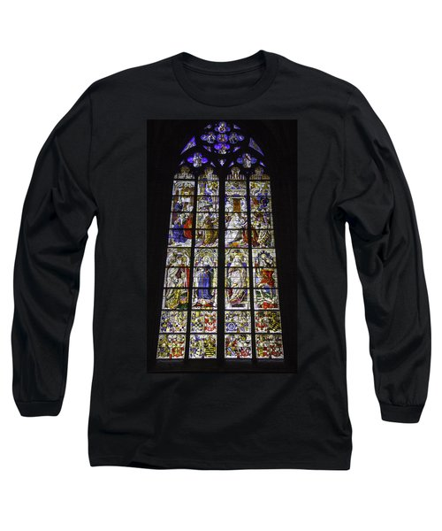 Cologne Cathedral Stained Glass Window Of The Three Holy Kings Long Sleeve T-Shirt