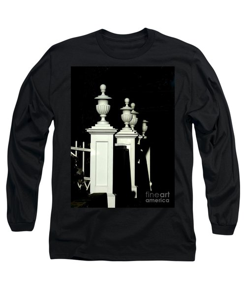 Colonial Fence Long Sleeve T-Shirt by Marcia Lee Jones