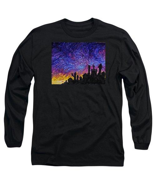 Color Of The Sky Part1 Long Sleeve T-Shirt by Felix Concepcion