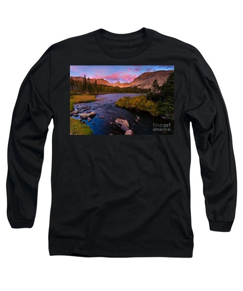 Color Over  Indian Peaks Long Sleeve T-Shirt by Steven Reed