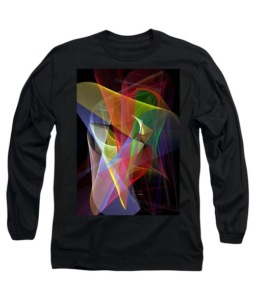 Long Sleeve T-Shirt featuring the digital art Color Symphony by Rafael Salazar