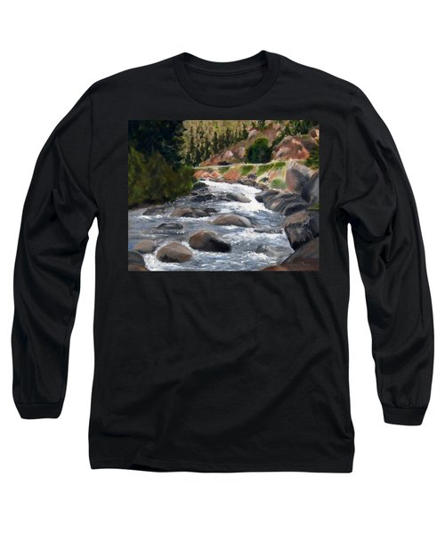 Long Sleeve T-Shirt featuring the painting Colorado Rapids by Jamie Frier