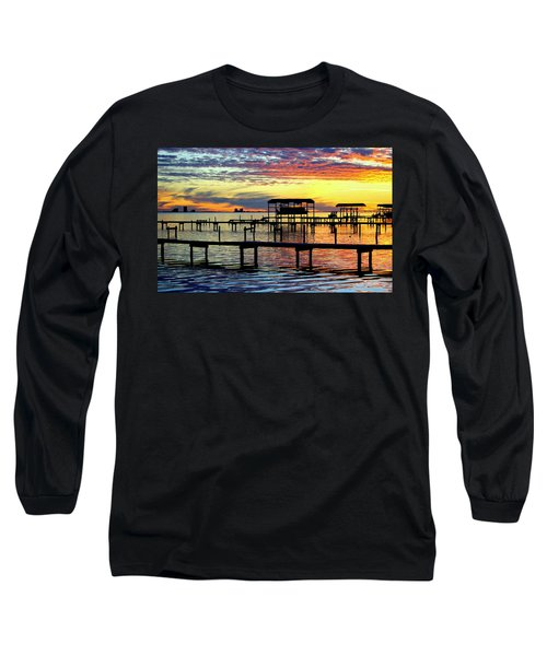 Long Sleeve T-Shirt featuring the photograph Colored Glass by Faith Williams