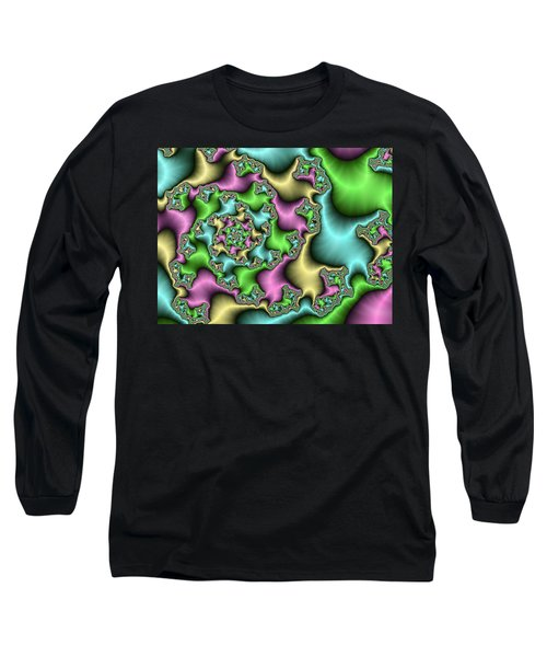 Long Sleeve T-Shirt featuring the digital art Colorful Depth by Gabiw Art
