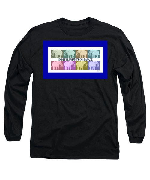 Pastel Elephants On Parade Long Sleeve T-Shirt