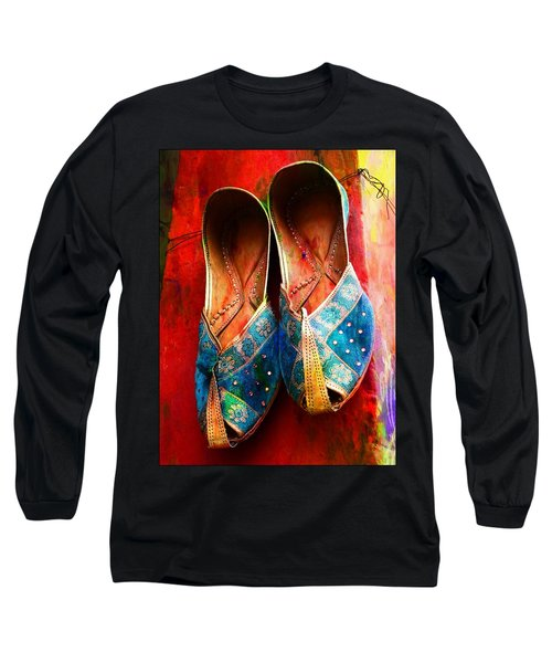 Colorful Footwear Juttis Sales Jaipur Rajasthan India Long Sleeve T-Shirt