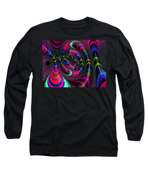 Colorful Fractal Art Long Sleeve T-Shirt