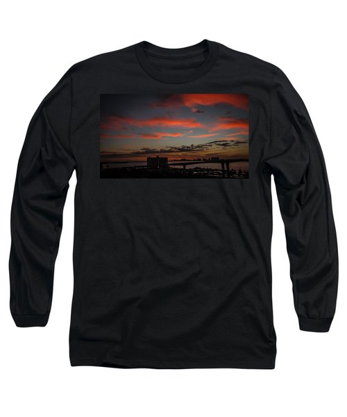 Long Sleeve T-Shirt featuring the photograph Colorful Sunset by Jane Luxton