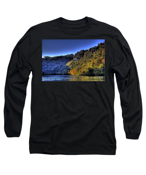 Long Sleeve T-Shirt featuring the photograph Colorful Trees Over A Lake by Jonny D