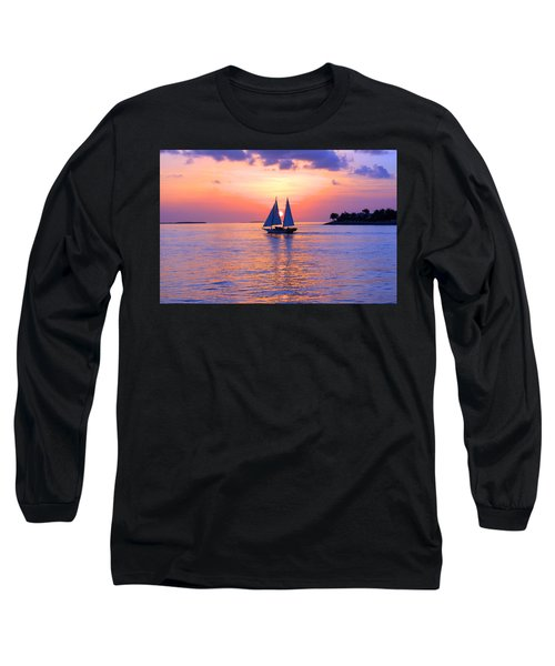 Colors Of Sunset Long Sleeve T-Shirt by Iryna Goodall
