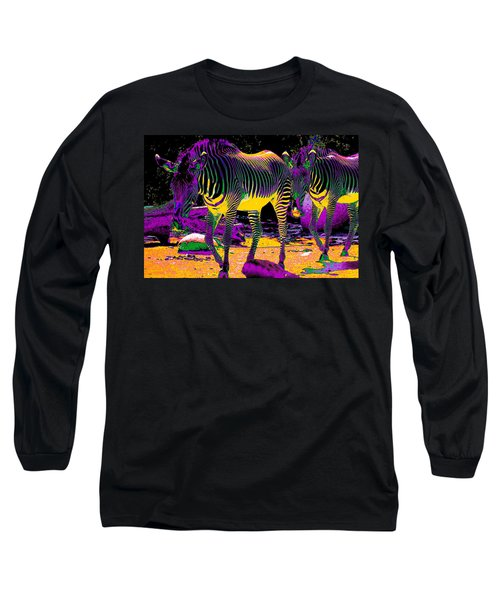 Colourful Zebras  Long Sleeve T-Shirt