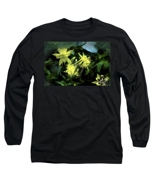 Columbines Painterly Long Sleeve T-Shirt