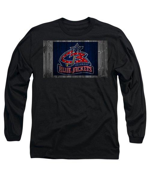 Columbus Blue Jackets Barn Door Long Sleeve T-Shirt