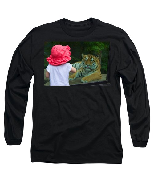 Come A Little Closer Long Sleeve T-Shirt by Dave Files