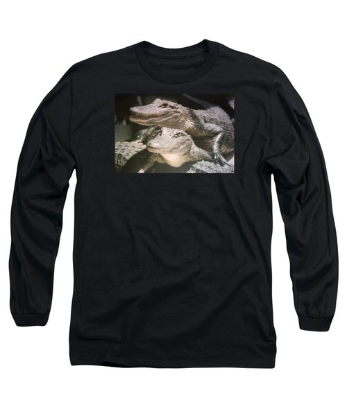 Long Sleeve T-Shirt featuring the photograph Florida Alligators Come Closer by Belinda Lee