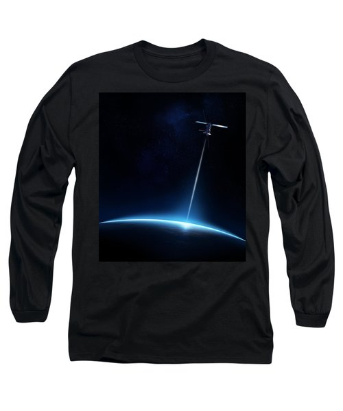 Communication Between Satellite And Earth Long Sleeve T-Shirt
