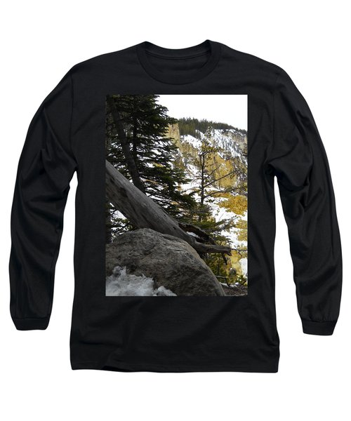 Long Sleeve T-Shirt featuring the photograph Composition At Lower Falls by Michele Myers