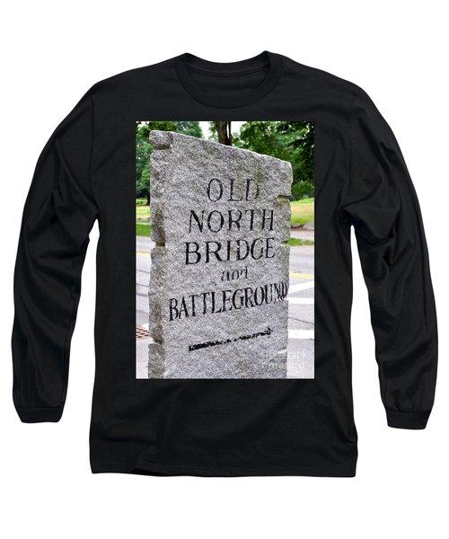 Concord Ma Old North Bridge Marker Long Sleeve T-Shirt