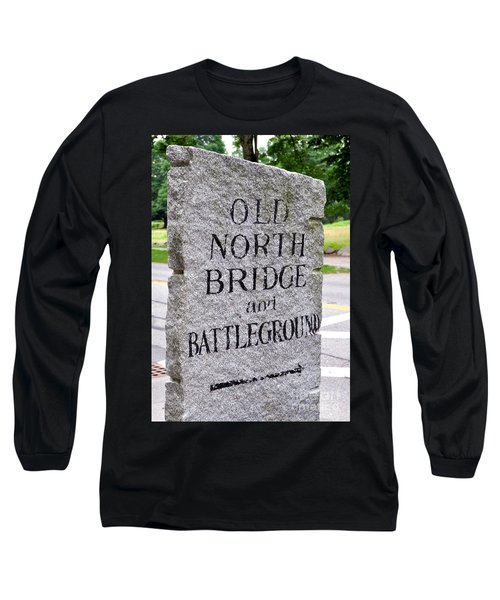 Concord Ma Old North Bridge Marker Long Sleeve T-Shirt