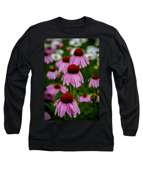 Coneflowers In Front Of Daisies Long Sleeve T-Shirt
