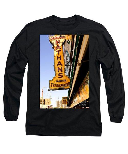 Coney Island Memories 1 Long Sleeve T-Shirt by Madeline Ellis