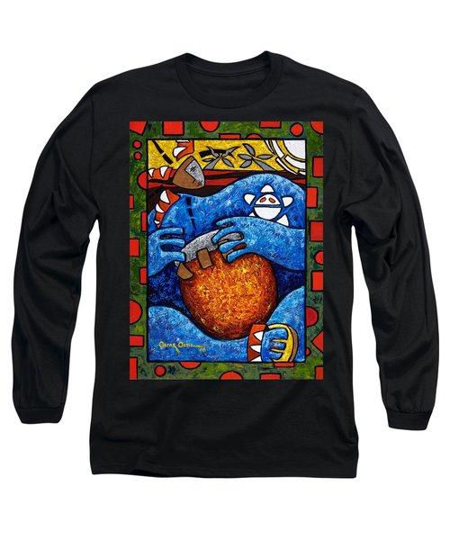Conga On Fire Long Sleeve T-Shirt