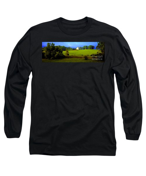 Long Sleeve T-Shirt featuring the photograph Conley Road Farm Spring Time by Tom Jelen