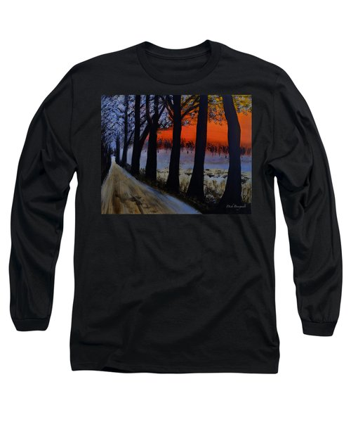 Conrad Road Sunrise Long Sleeve T-Shirt by Dick Bourgault