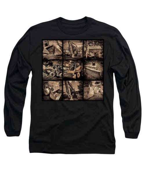 Construction Collage-1 Long Sleeve T-Shirt