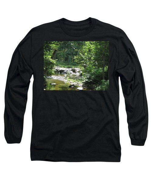Long Sleeve T-Shirt featuring the photograph Cool Waters II by Ellen Levinson