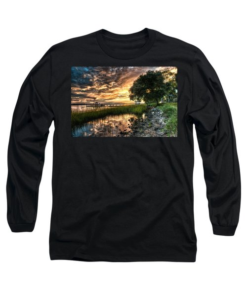 Coosaw Plantation Sunset Long Sleeve T-Shirt