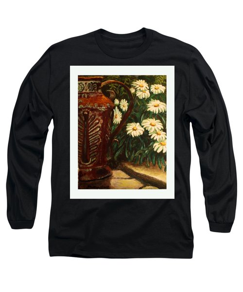 Copper And Daisies Long Sleeve T-Shirt by Harriett Masterson