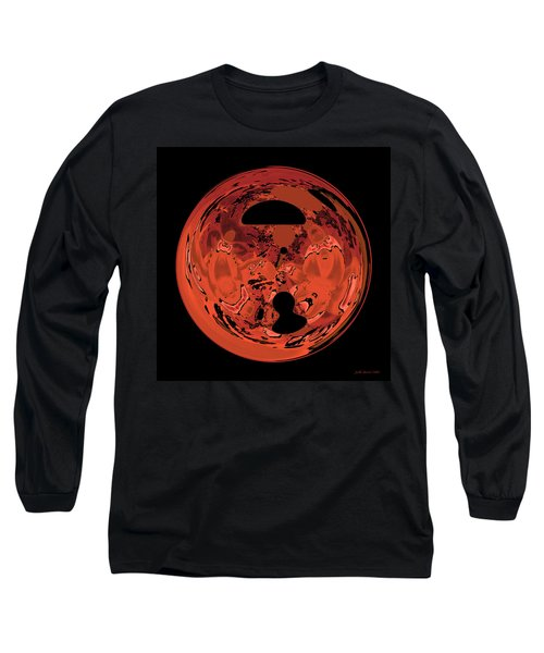 Long Sleeve T-Shirt featuring the digital art Copper Disk Abstract by Judi Suni Hall